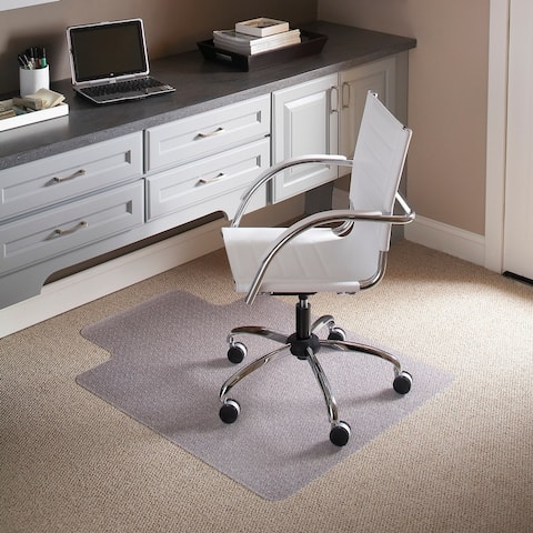 "45"" x 53"" Carpet Chair Mat with Lip and Scuff and Slip Resistant Textured Top"
