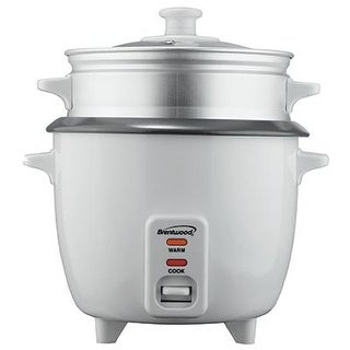 Brentwood Appliances Ts-700S 4-Cup Rice Cooker And Food Steamer - White