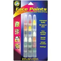 Bright; Pearl & Brilliant - Face Paint Stackable Crayons 18/Pkg