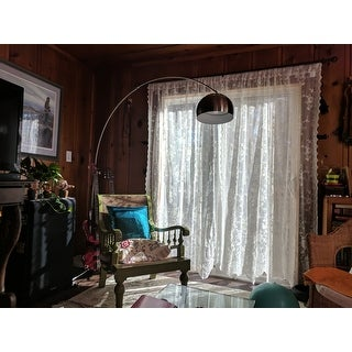 No. 918 Alison Rod Pocket Lace Window Curtain Panel
