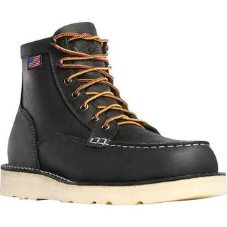 "Danner Men's Bull Run Moc Toe 6"" Cristy Steel Toe Boot Black Oiled Full Grain Leather"