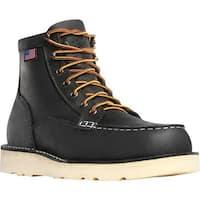 """Danner Men's Bull Run Moc Toe 6"""" Cristy Steel Toe Boot Black Oiled Full Grain Leather"""
