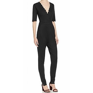 French Connection NEW Black Womens Size 12 Short Sleeve Jumpsuit