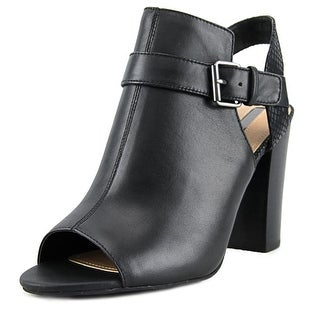 Tahari Martin Peep-Toe Leather Ankle Boot