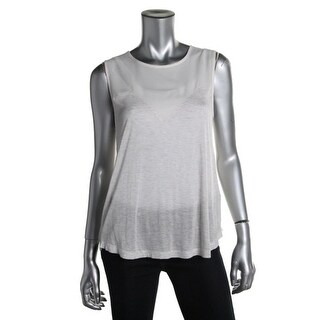French Connection Womens Chiffon Panel Tank Top