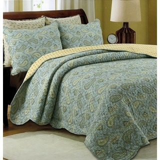 Link to Green Paisley Country Style 3-piece Cotton Quilt Set Similar Items in Quilts & Coverlets