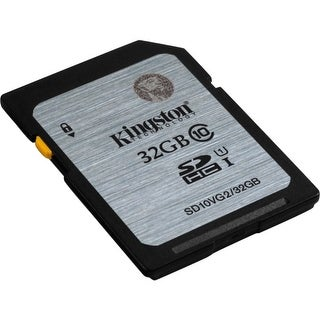 Kingston SD10VG2/32GB Kingston 32 GB SDHC - Class 10/UHS-I - 45 MB/s Read - 10 MB/s Write1 Pack