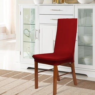 Unique Bargains 2 Pcs Red Stretch Removable Dining Room Chair Cover  Protector