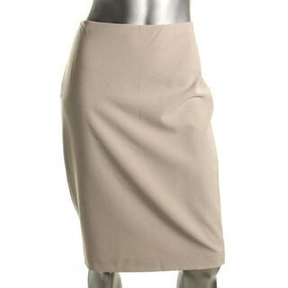 Anne Klein Womens Wool Blend Knee-Length Pencil Skirt