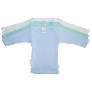 Bambini Baby Boys Blue Yellow White Long Sleeve Lap 3-Pack T-Shirts