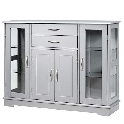 Costway Sideboard Buffet Server Storage 32'' Cabinet W/ 2 Drawers 3