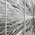 Statements2000 Silver 5 Panel Modern Metal Wall Art Sculpture by Jon Allen - Vortex 5P - Thumbnail 4