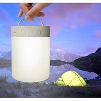 TechComm L1 Wireless Bluetooth Speaker with Touch-activated LED Lamp, Built-in Microphone and Carrying Handle