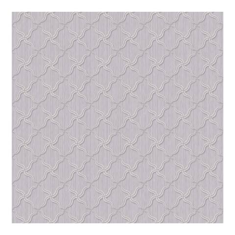 Alexi Violet Ornate Criss Cross Wallpaper - 324in x 27in 0.25in