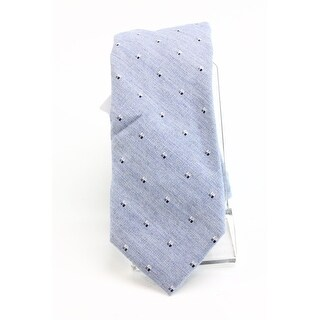 Calvin Klein NEW Ice Blue Slim Neat Polka Dot Men's Neck Tie Accessory