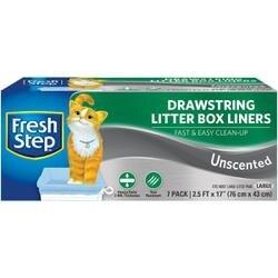 Large Unscented - Fresh Step Drawstring Litter Box Liners 7/Pkg