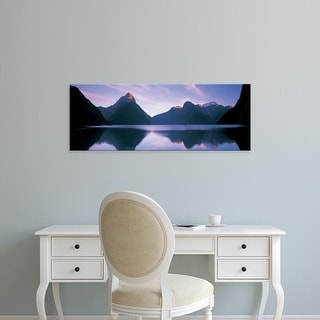 Easy Art Prints Panoramic Images's 'Milford Sound, New Zealand' Premium Canvas Art