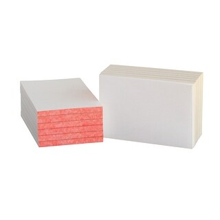 School Smart Scratch Pad with Chipboard Back, 4 X 6 in, 100 Sheets, White, Pack of 12