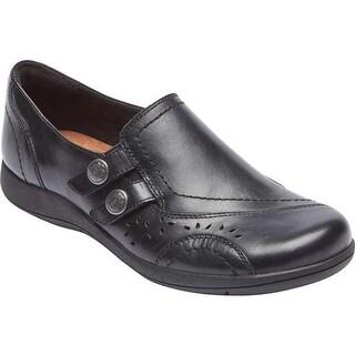 Rockport Women's Daisey Slip On Black Leather