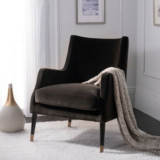 Link to Safavieh Couture Sicily Shale Velvet Commercial Grade Arm Chair Similar Items in Arm Chairs