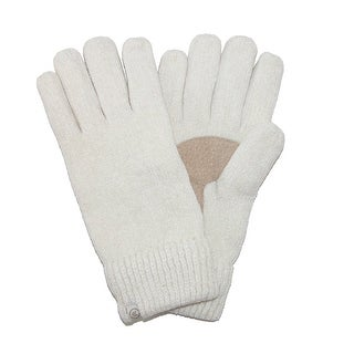 Isotoner Women's Chenille with Suede Palm Gloves - One Size