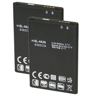New Replacement Battery BL-44JN / EAC61679601 For LG Phone Models ( 2 Pack )