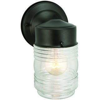 Design House 502195 Jelly Jar Downlight, Black