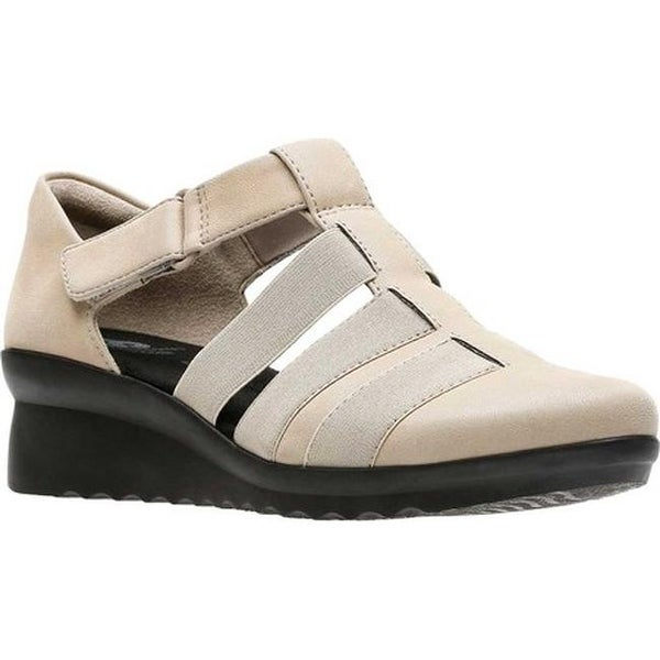 706d50cde0fd Clarks Women  x27 s Caddell Shine Strappy Sandal Sand Synthetic Nubuck