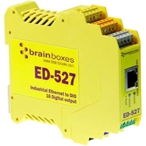 Brainboxes ED-527 Brainboxes ED-527 Ethernet to Digital IO 16 Outputs - 1 x Network (RJ-45) - 1 x Serial Port - Fast Ethernet -