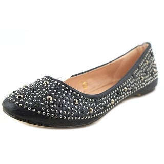 Lauren Lorraine Lucy Women Round Toe Synthetic Black Flats