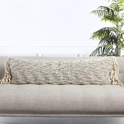 Clea Textured Lumbar Pillow
