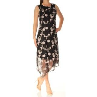 ALFANI $130 Womens New 1735 Black Jewel Neck Shift Dress 8 B+B
