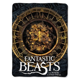 """Fantastic Beasts Many Faces 46"""" x 60"""" Throw Blanket"""