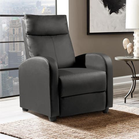 Recliner Chair PU Leather Single Living Room Sofa Recliner
