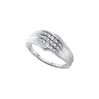 1/12Ctw Diamond Ladies Fashion Band White-Gold 10K