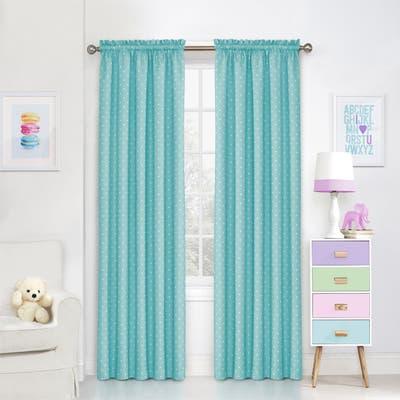 Eclipse Kids Polka Dots Room-Darkening Window Curtain Panel - 42X84