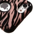 Insten Rose Gold/ Black Zebra Tuff Hard PC/ Silicone Dual Layer Hybrid Rubberized Matte Case Cover For Apple iPhone 7 - Thumbnail 2
