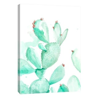 """PTM Images 9-108389  PTM Canvas Collection 10"""" x 8"""" - """"Turquoise Desert 2"""" Giclee Cactuses Art Print on Canvas"""