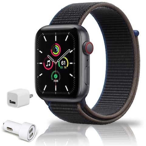 Apple Watch Series 6 (GPS, 44mm, Gold Aluminum, Pink Sand Sport Band)