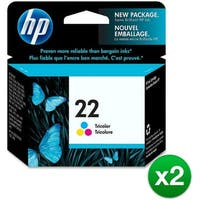 HP 22 Tri-color Original Ink Cartridge (C9352AN) (2-Pack)
