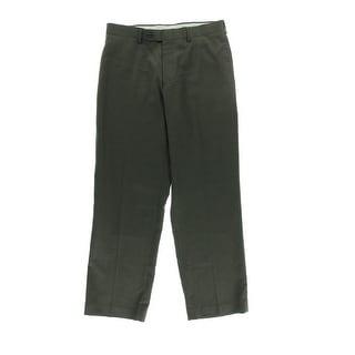 Nautica Mens Mast Wool Flat Front Dress Pants - 36/30
