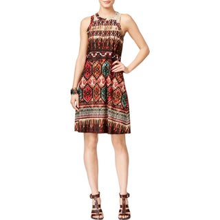 Karen Kane Womens Casual Dress Printed Halter