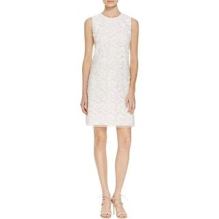 Calvin Klein Womens Casual Dress Applique Fringe