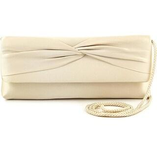 La Regale Davina Women Satin Gold Evening Bag