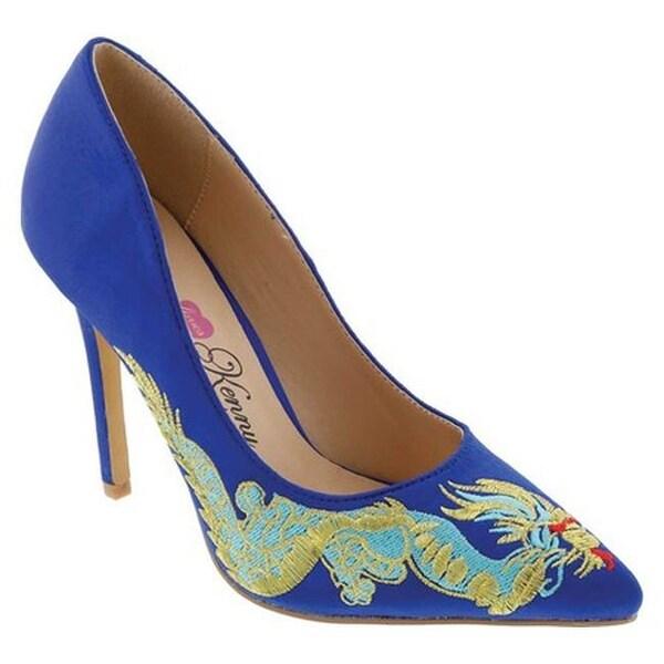 a8c01292022 Shop Penny Loves Kenny Women s Opus Dragon Pump Blue Satin Fabric ...