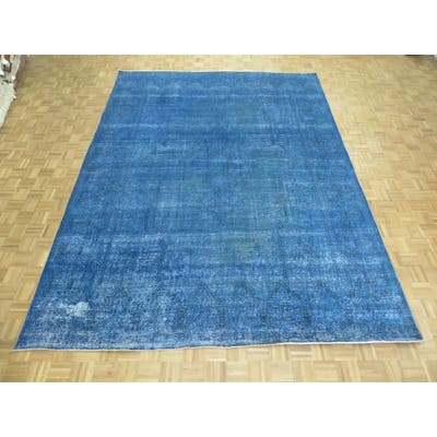 """Hand Knotted Blue Persian with 100% Wool Oriental Rug (9'8"""" x 13'3"""") - 9'8"""" x 13'3"""""""