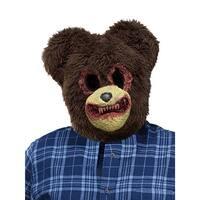 Scary Bear Animal Halloween Costume Mask - standard - one size