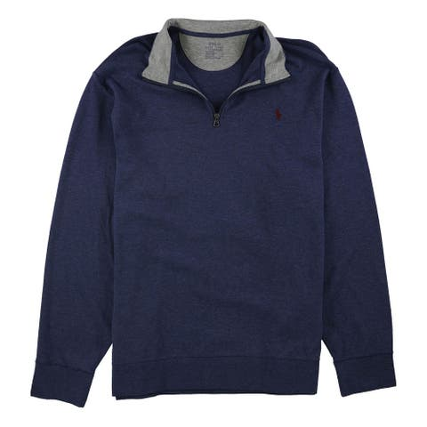 Ralph Lauren Mens Jersey Pullover Sweatshirt, Blue, XX-Large