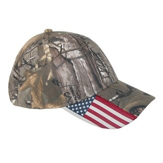 Realtree Xtra Camo and American Flag Baseball Hat