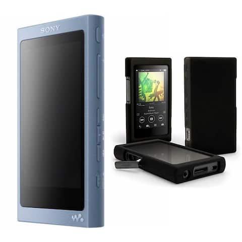 Sony NW-A45/L 16GB Walkman with Hi-Res Audio, Moonlit Blue Bundle